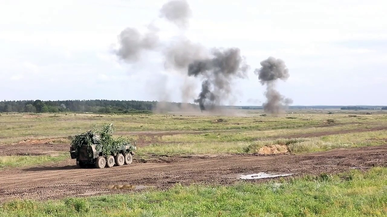 Awesome HD Footage • NATO Tank Battle Event • Bemowo Piskie • Training Area, Poland