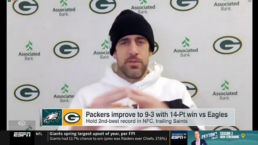 Aaron Rodgers 'on fire' Green Bay Packers big win Philadelphia Eagles Week 13, improve to 9-3