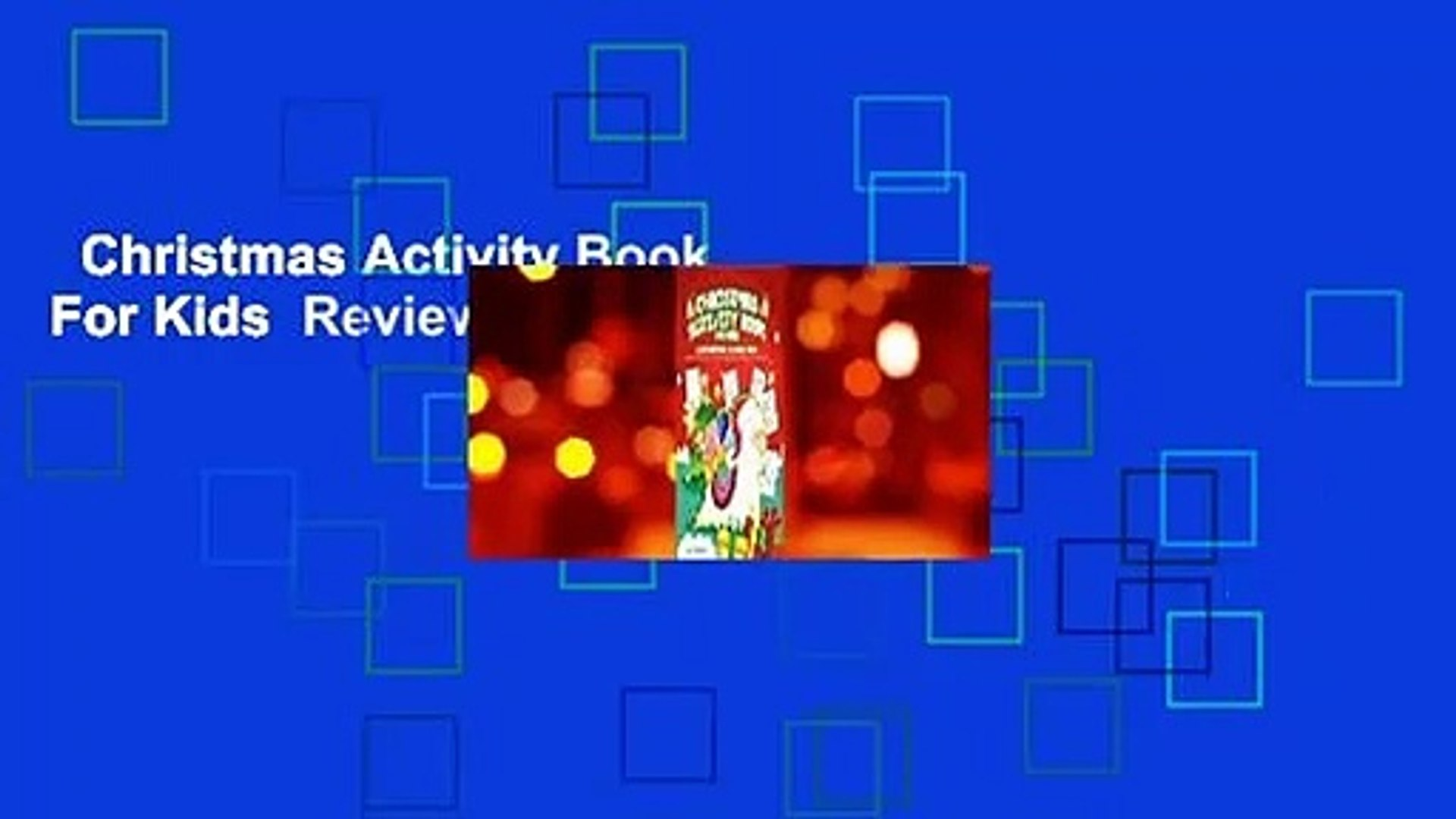 Christmas Activity Book For Kids  Review