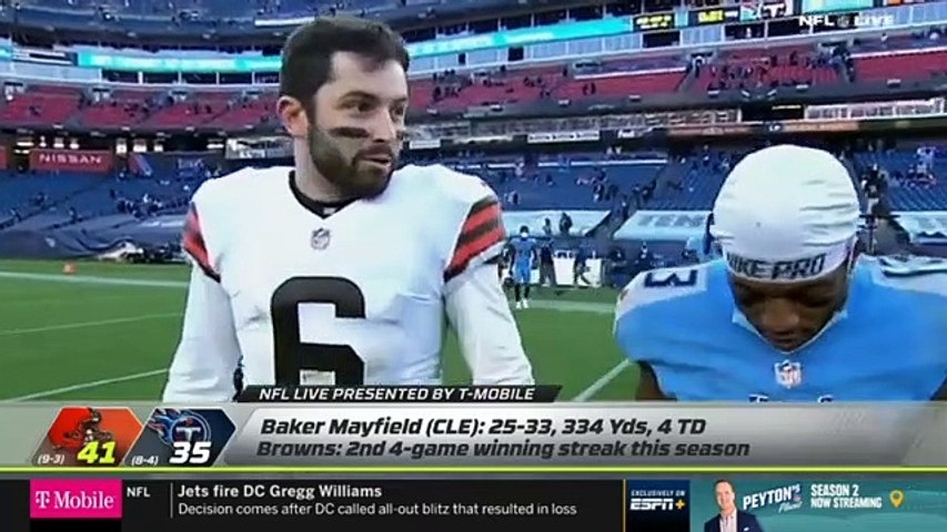 Marcus Spears 'WOW' Cleveland Browns dominate Tennessee Titans Week 13 - Baker's epic show 4 TD