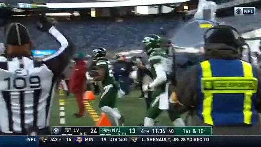 Las Vegas Raiders vs New York Jets FULL Highlight (4th) _ NFL Week 13 _ Season 2020-21