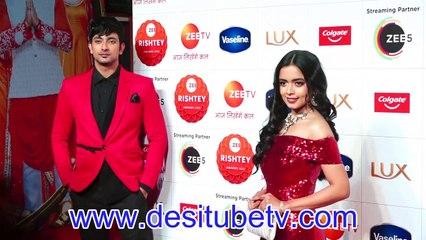 Apna Time Bhi Ayega Rani & Vir Megha Ray Fahmaan Khan looks doting twosome at Zee Rishtey Awards