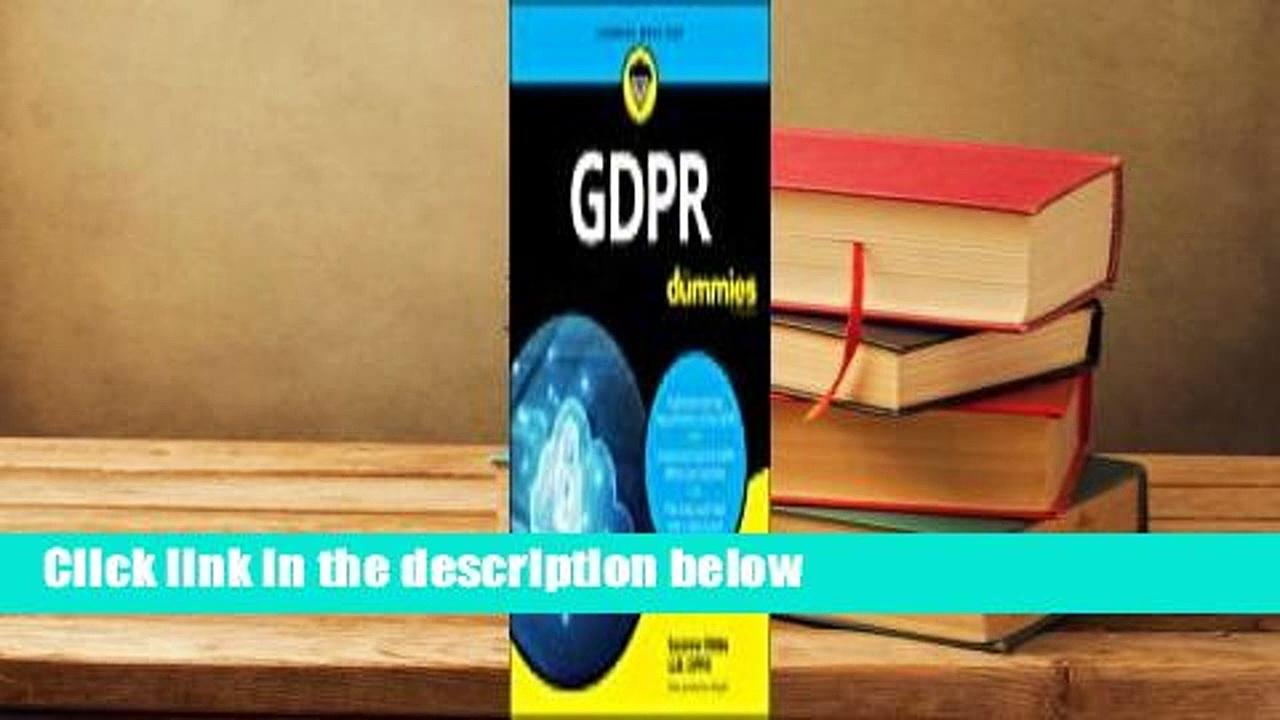 Full version  Gdpr for Dummies  For Online