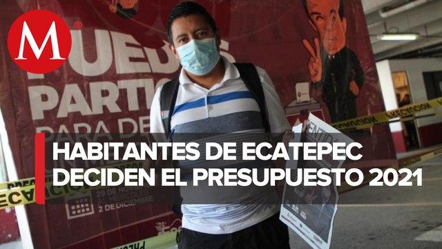 Participan 33 mil vecinos de Ecatepec en Consulta Ciudadana para aplicar presupuesto 2021