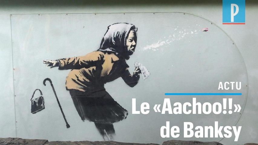 «Aachoo!!», le nouveau graffiti de Banksy sur la crise sanitaire