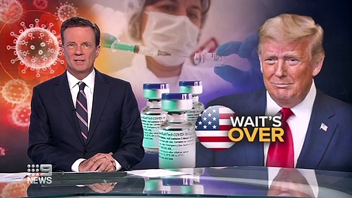 Coronavirus – America to begin receiving Pfizer's vaccine _ 9 News Australia