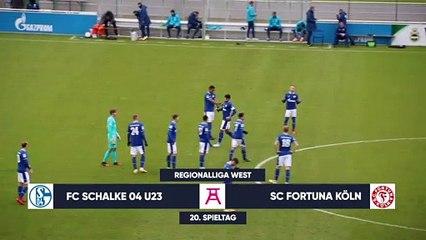 Freistoß-Hammer kurz vor Schluss   FC Schalke 04 II – SC Fortuna Köln (Regionalliga West)