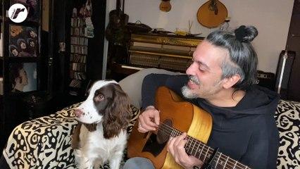 """Roberto Angelini (e il suo cane) cantano """"Incognita"""" per Rockol"""