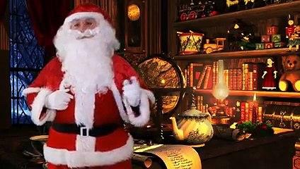 Le Père Noël a quelque chose à vous dire... Regardez