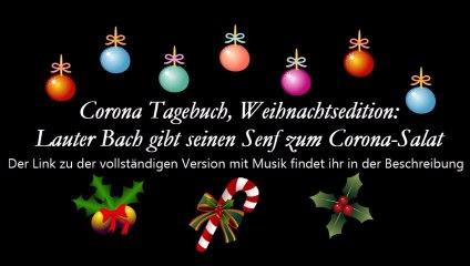 """Märchenstunde mit einem wunderbaren Weihnachtsmärchen: """"Der laute Bach gibt seinen Senf zum Corona-Salat"""""""