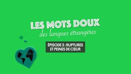 L'amour dans les langues étrangères (3/3) : ruptures et peines de cœur
