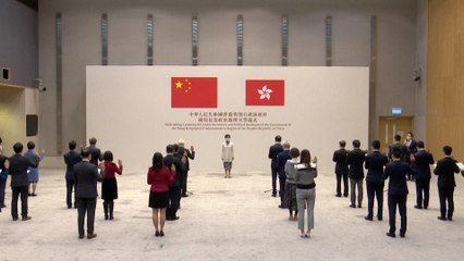 High-ranking officials take oath pledging loyalty to Hong Kong and the Basic Law