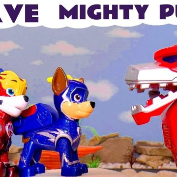 Paw Patrol Mighty Pups Brave Rescue with Transformers Optimus Prime and Marvel Avengers Hulk in this Family Friendly Full Episode English Toy Story for Kids from Kid Friendly Family Channel Toy Trains 4U