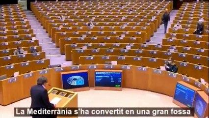 Puigdemont habla solo en el Parlamento Europeo