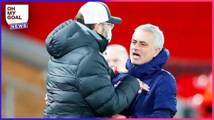 Mourinho révèle ce qu'il a dit à Klopp après Liverpool-Tottenham et le tacle   Oh My Goal
