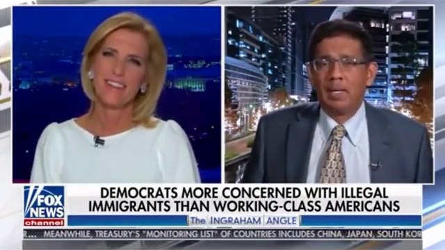 "Dinesh D'Souza joins Laura Ingraham on 'The Ingraham Angle.' Obama still wants liberals to love him. Says he was supporting BLM all summer; just don't say DEFUND THE POLICE, do it after being elected. Later CNN slip: ""JOBAMA!"""