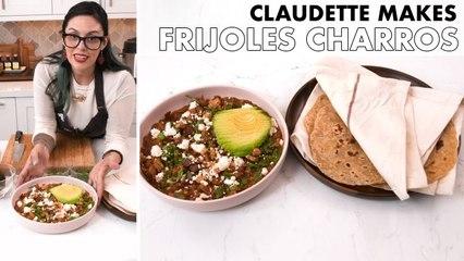 Claudette Makes Frijoles Charros and Flour Tortillas