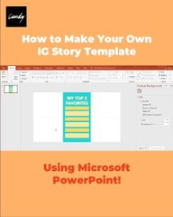 How To Make An Instagram Story Template Using PowerPoint