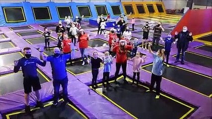 Worldwide Santa's Christmas Eve Jinglerehearsed for the big day at Sky High Trampoline Centre