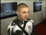 Karim Benzema - interview après match Lyon-Manchester