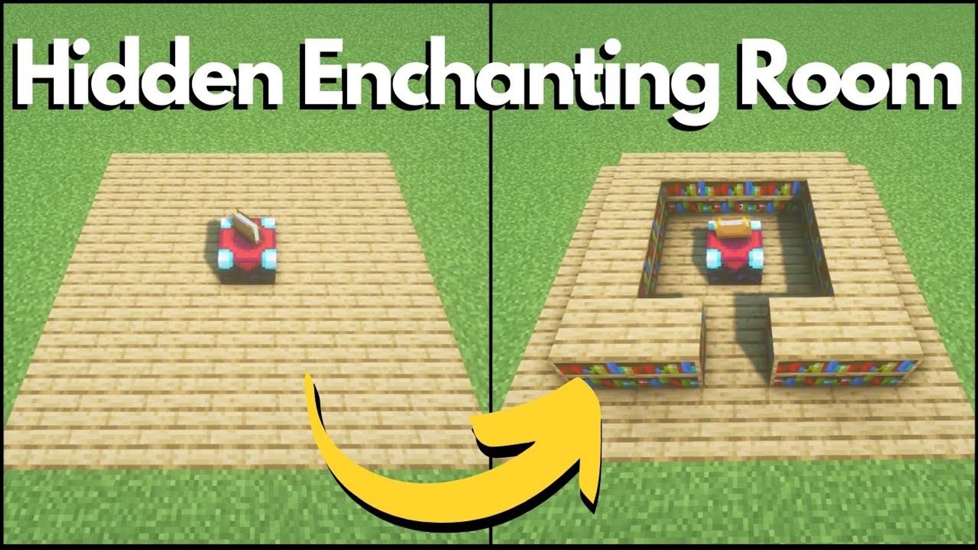 Minecraft - Simple Hidden Redstone Enchanting Room (Tutorial)