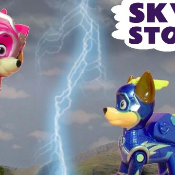 Skye's Storm from Paw Patrol Charged Up Mighty Pups with the Funny Funlings in this Family Friendly Full Episode English Video for Kids from Family Channel Toy Trains 4U