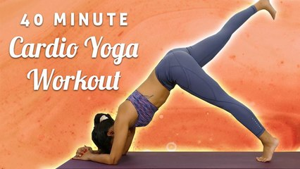 40 Minute Cardio HIIT & Yoga Workout for Weight Loss, Fat Burning, Intermediate Fitness Class, 1 Hr