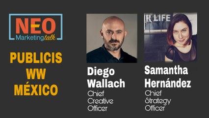Diego Wallach y Samantha Hernández en NEO Marketing Talk