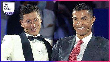 La déclaration PARFAITE de Lewandowski qui a fait sourire Cristiano Ronaldo en direct   Oh My Goal