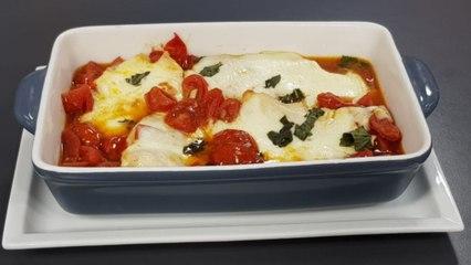Fileto pule me domate dhe mozzarella nga zonja Vjollca