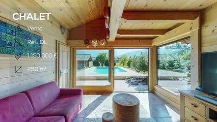 Chalet avec piscine face au Mont Blanc