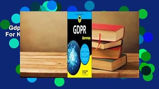 Gdpr for Dummies  For Kindle