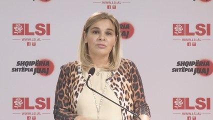 Monika Kryemadhi  në deklaratë - 05 tetor 2020