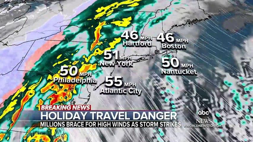 Powerful Christmas Eve storm heads to East Coast