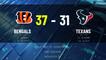 Bengals @ Texans Game Recap for SUN, DEC 27 - 02:00 PM ET EST