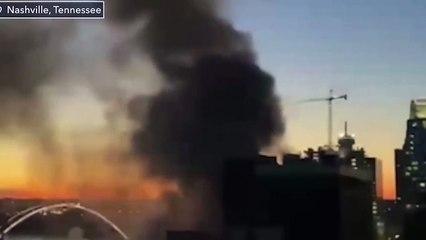 Smoke Rising from Nashville Explosion