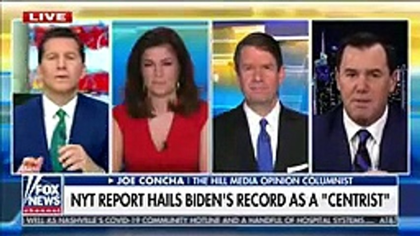 NYT report hails Biden's record as 'centrist'