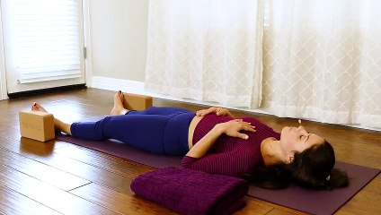 Gentle Yoga for Sleep, Relaxation, Pain Relief, Beginners Restorative Stretch Class 30 Mins