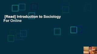 [Read] Introduction to Sociology  For Online