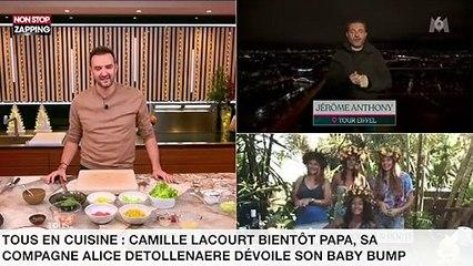 Tous en cuisine : Camille Lacourt bientôt papa, sa compagne Alice Detollenaere dévoile son baby bump (vidéo)