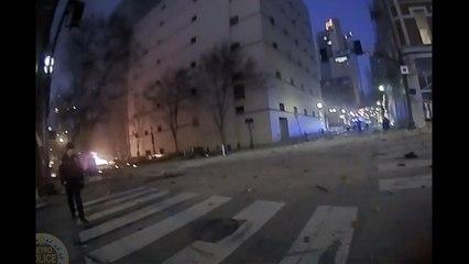 Stunning cop body cam footage captures Nashville Christmas bomb blast