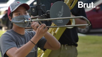 New Mexico marching band gets creative to play in spite of COVID-19
