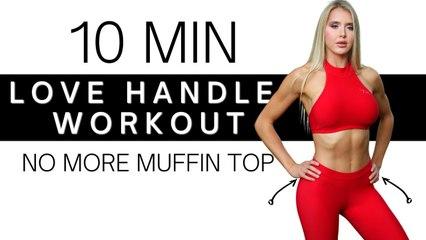 10 Minute Love Handles & Oblique Workout   Burn Away Fat
