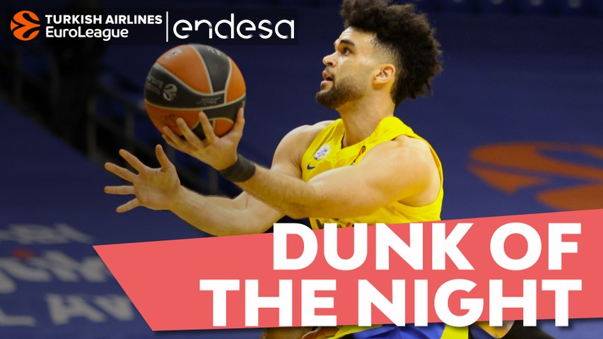 Endesa Dunk of the Night: Elijah Bryant, Maccabi Playtika Tel Aviv