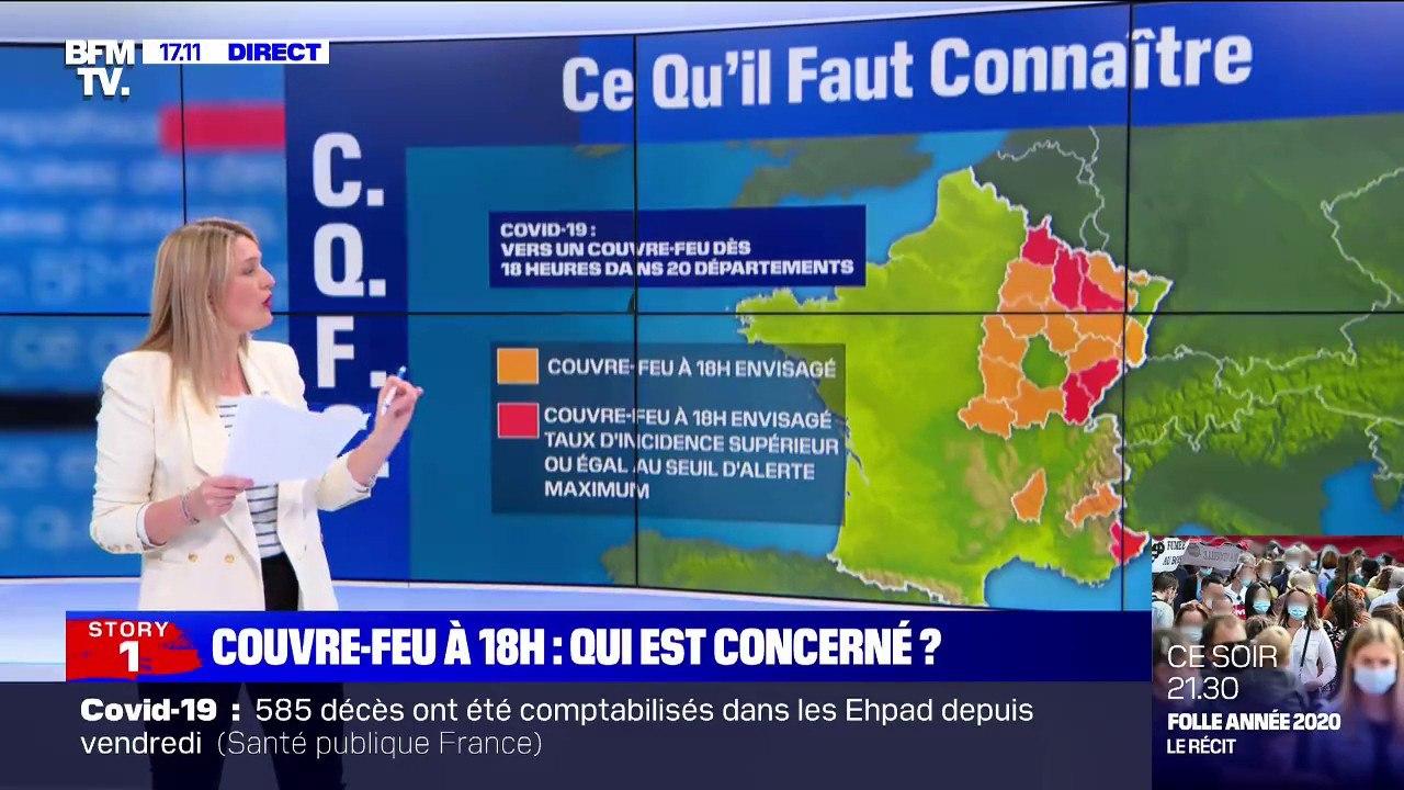 Voici Les Departements Qui Seront Concernes Par Le Couvre Feu Des 18h Video Dailymotion