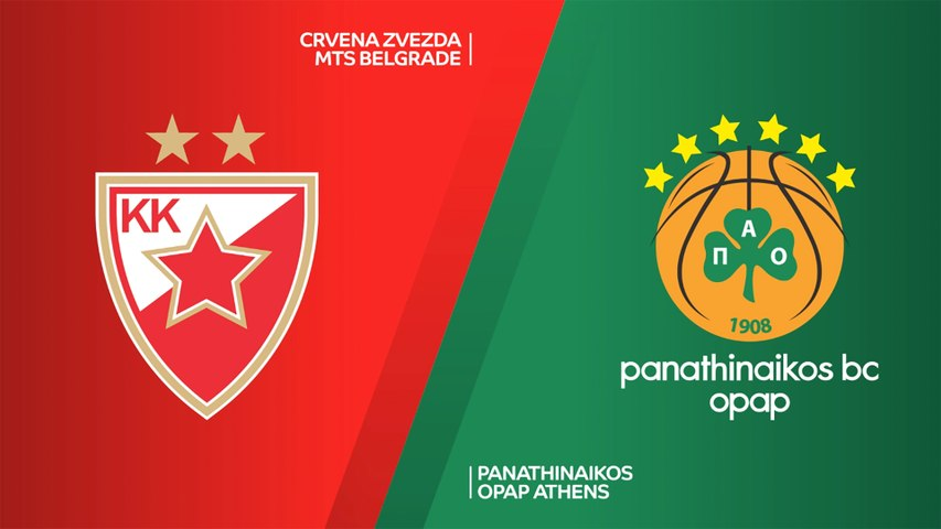 Crvena Zvezda mts Belgrade - Panathinaikos OPAP Athens Highlights | Turkish Airlines EuroLeague, RS Round 17