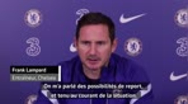 """17ème j. - Lampard : """"Pour le moment, le match se joue"""""""