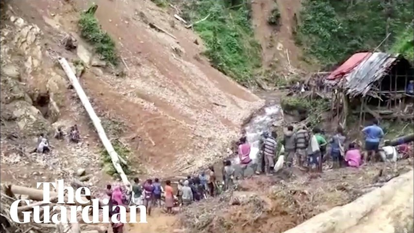 Landslide engulfs remote Papua New Guinea village leaving at least 12 feared dead