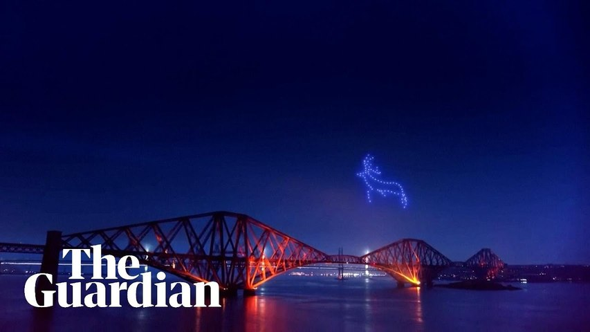 Drone swarms illuminate Scottish skies as part of Hogmanay festival
