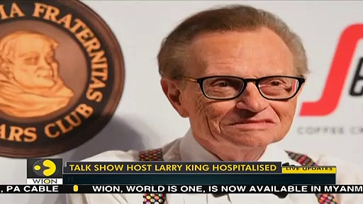 Veteran talk show host Larry King hospitalized with COVID-19  World News  WION News